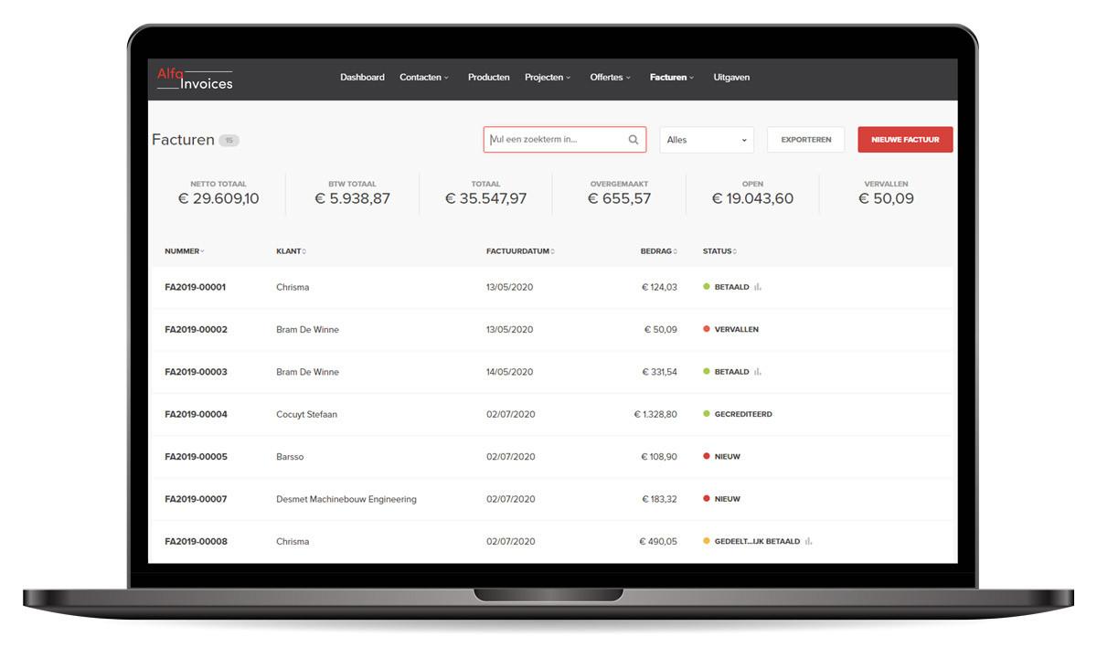 Alfa Invoices facturen