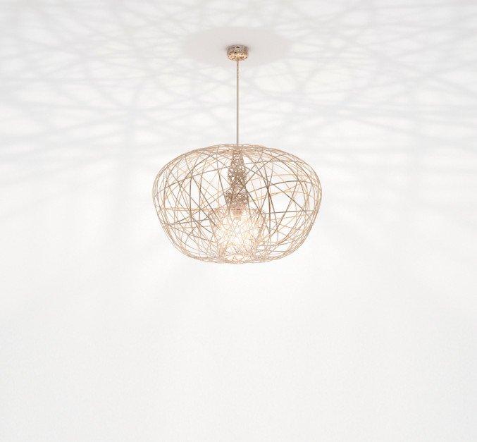 Lichtornament plafondverlichting cetus small goud, carbon decoratie