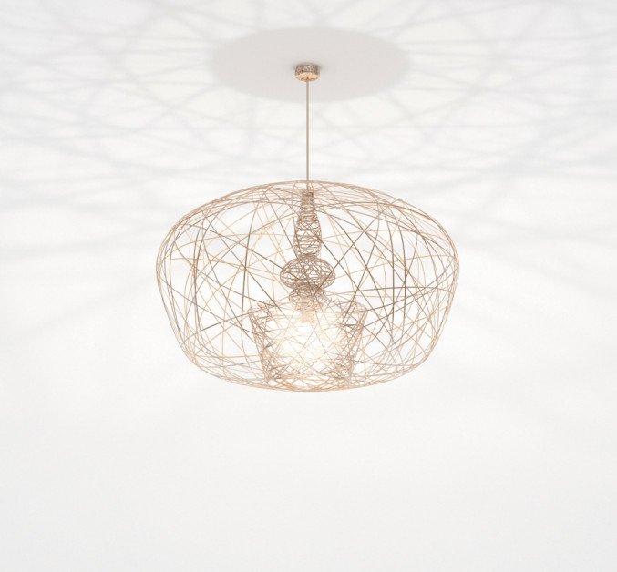 Lichtornament plafondverlichting cetus medium goud, carbon decoratie
