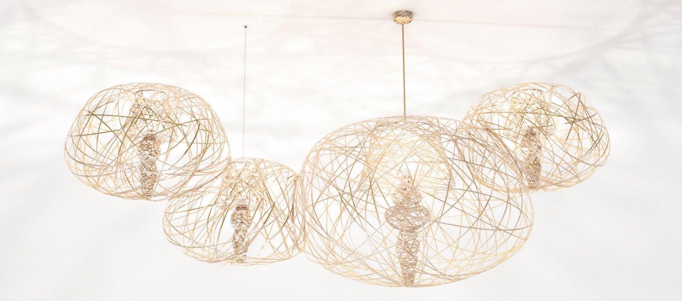 Lightornament ceiling lighting combination 3 gold, carbon decoration