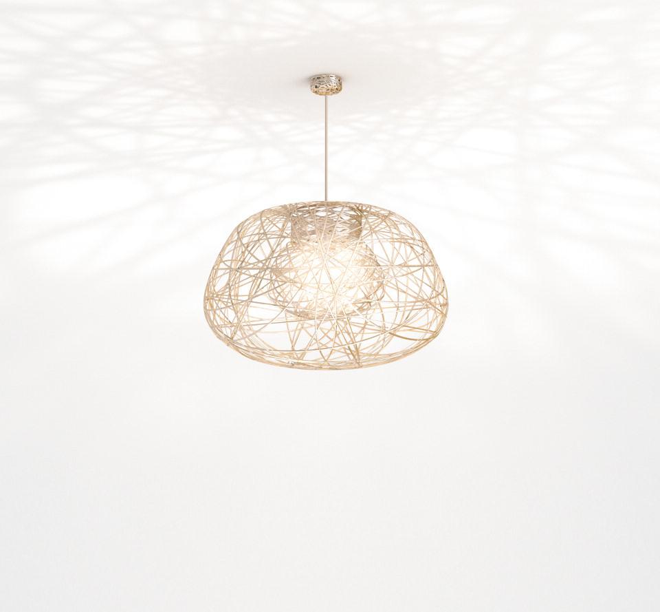 Lichtornament plafondverlichting indus goud small, carbon decoratie