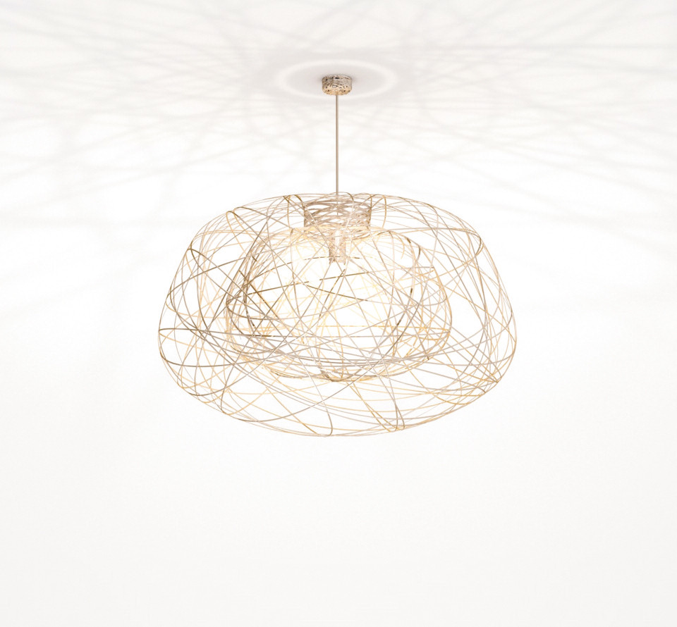 Lichtornament plafondverlichting indus goud medium, carbon decoratie