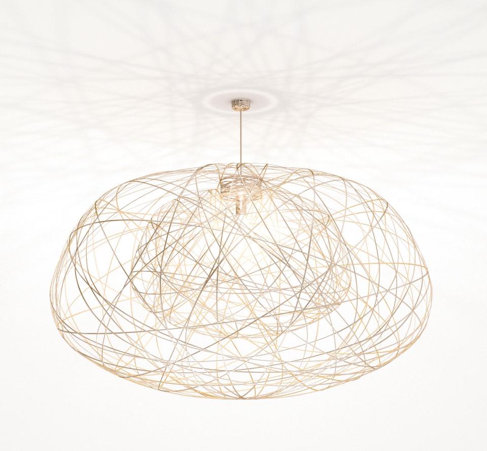 Lichtornament plafondverlichting indus goud large, carbon decoratie