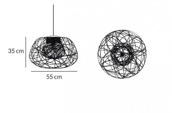 Lichtornament plafondverlichting indus zwart small afmetingen, carbon decoratie