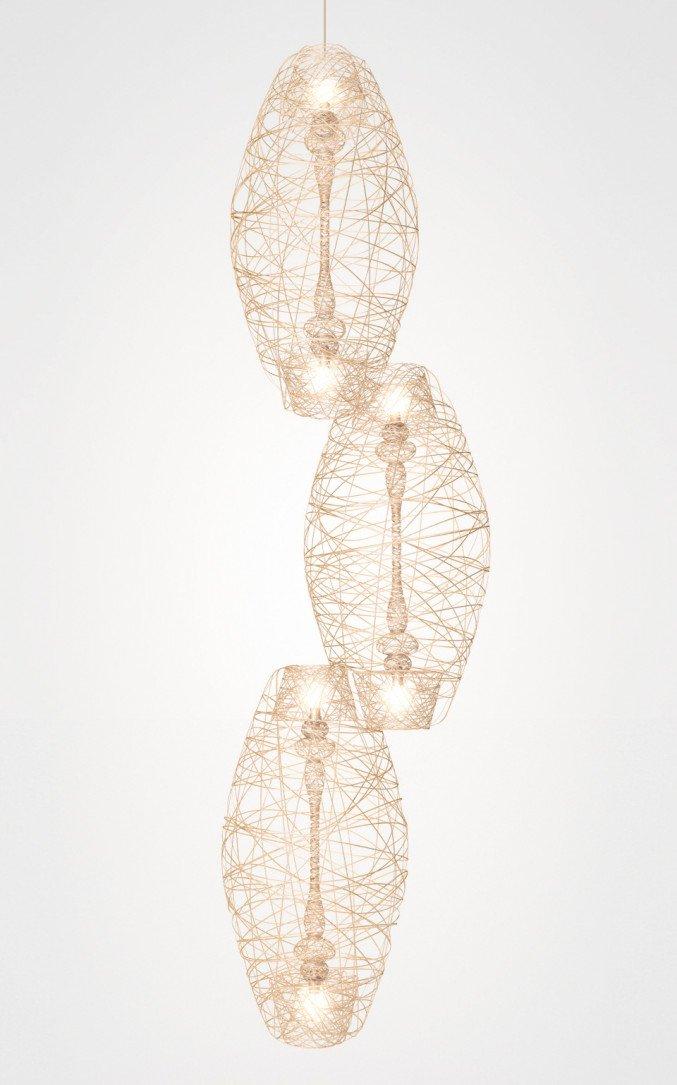 Lichtornament plafondverlichting volans, carbon decoratie