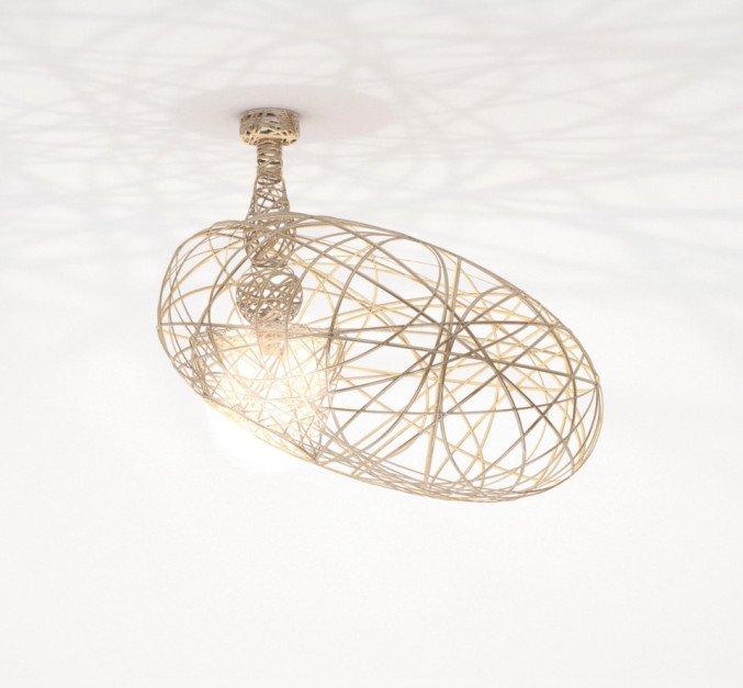 lichtornament plafondverlichting fornax goud, carbon decoratie