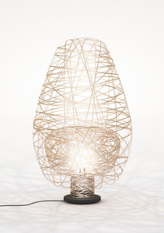 Lichtornament vrijstaande lamp vela zilver, carbon decoratie