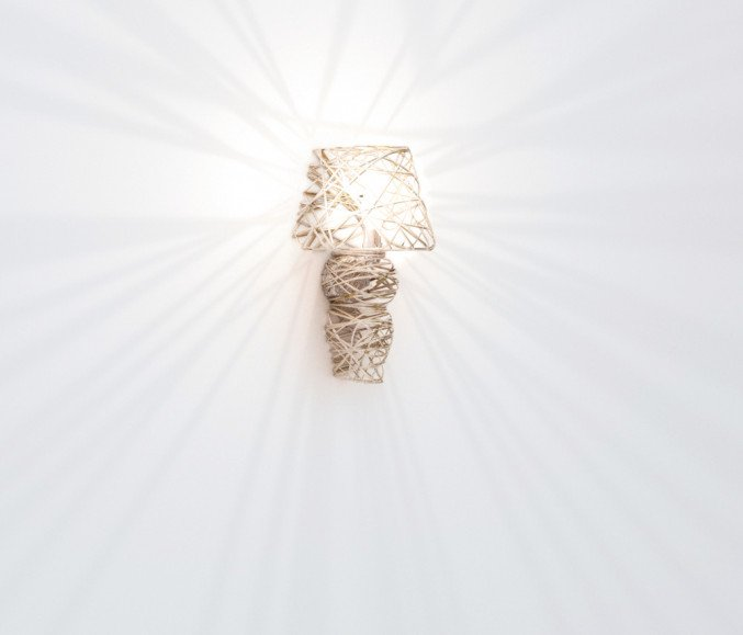 lightornament wall lighting lyra gold small, carbon, decoration