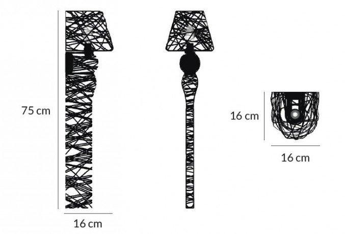 lightornament wall lighting lyra black overview big measurements, carbon decoration