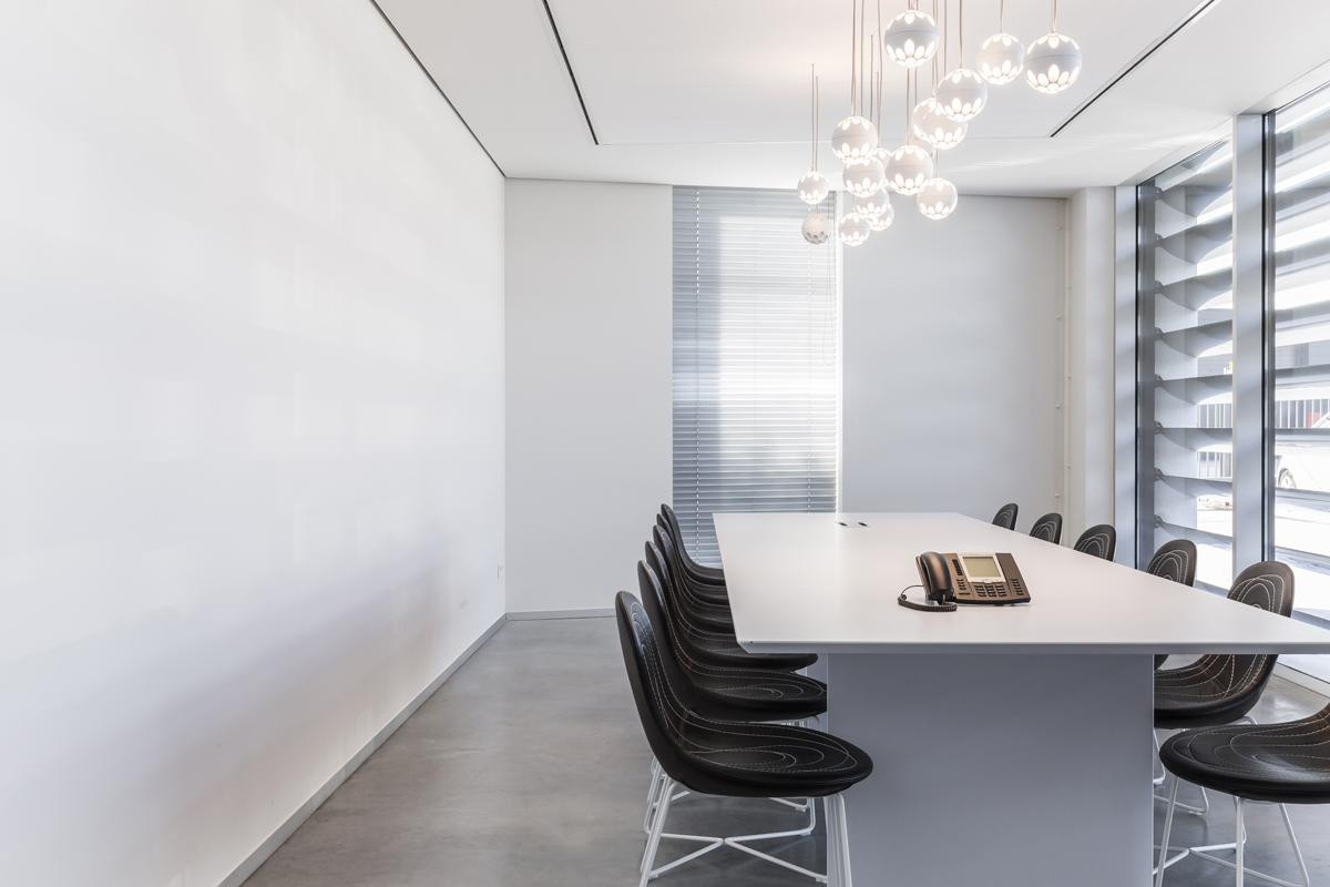 Inviting & austere workspace