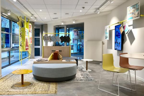 Transparent and contemporary. A holiday lounge with a touch of bohemian flair in line with the...