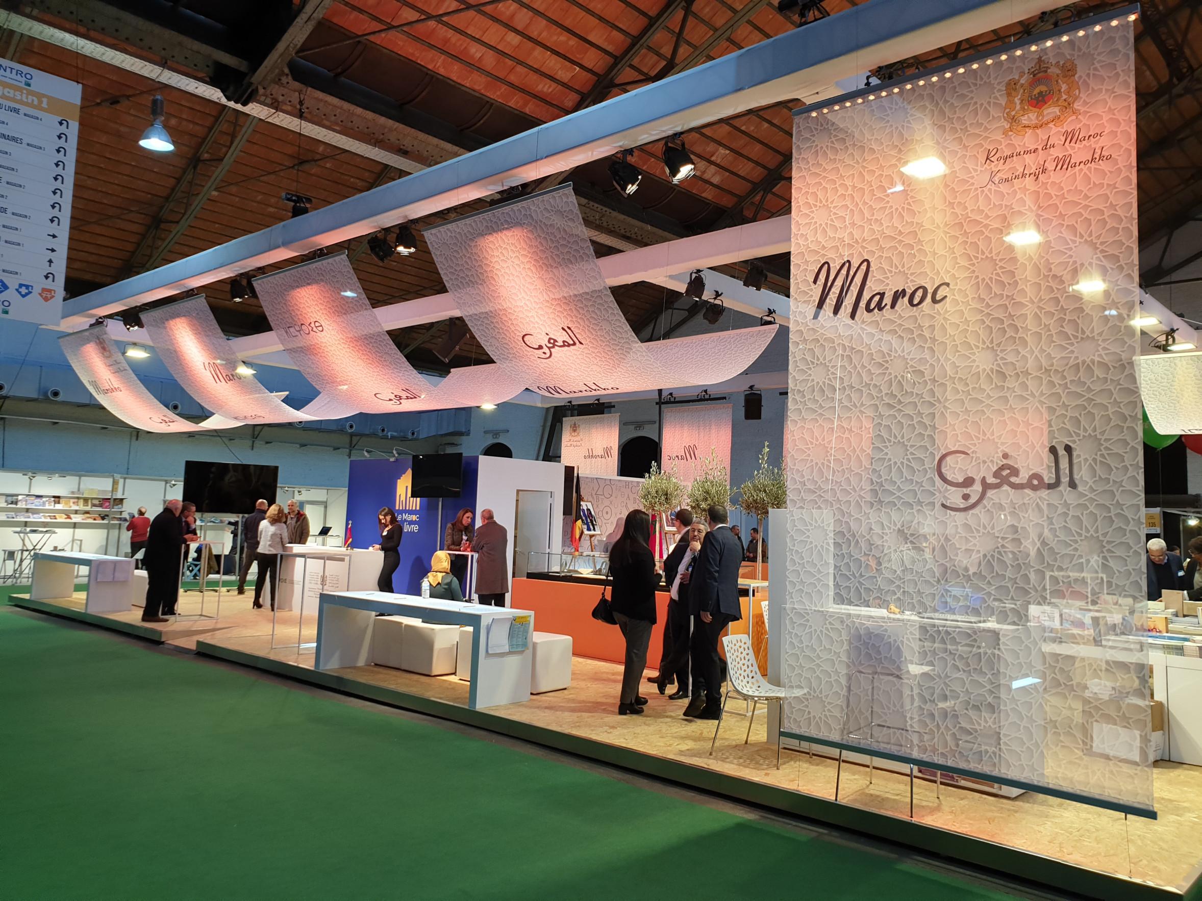 104_Airtex en Voile textiel_GL Events stand Marokko op Foire du Livre