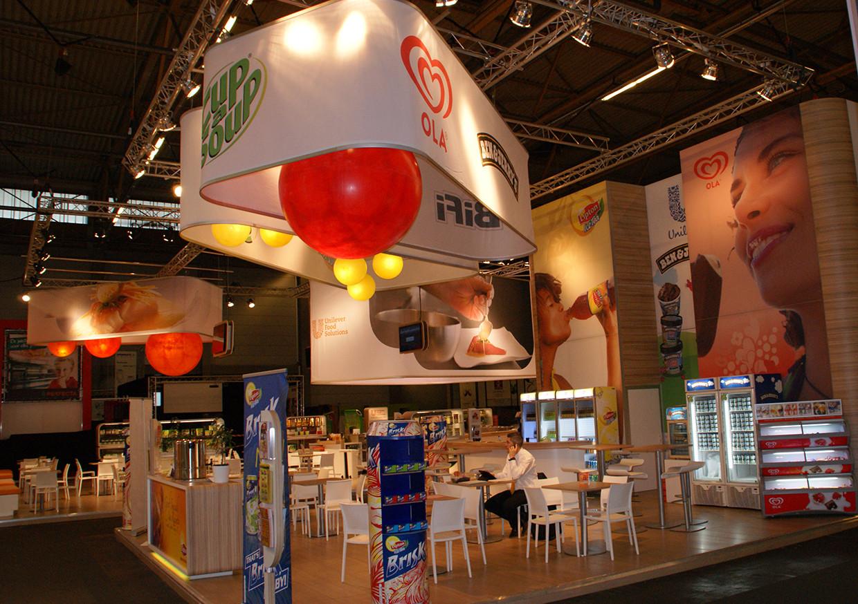 52_Hangstructuur en texframes_A&B Project Unilever Horeca expo Gent