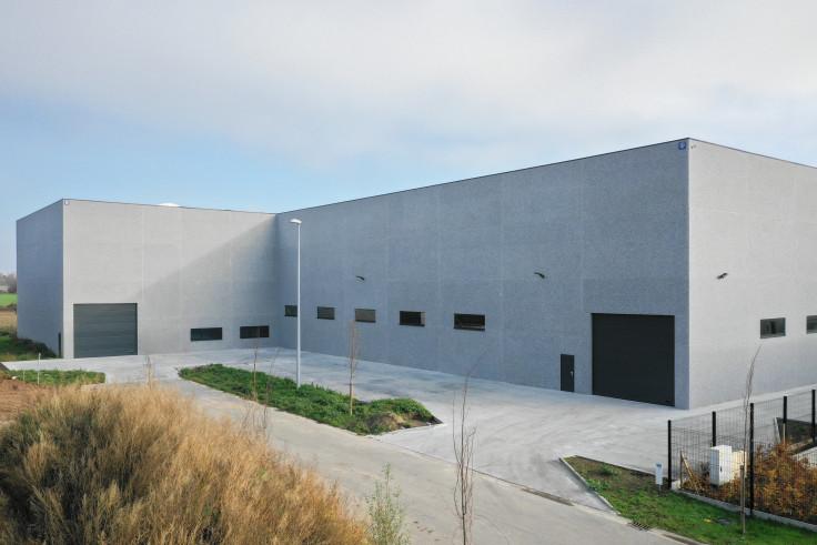 Hilma Moorslede. Industriegebouw. Industrieel gebouw. Industriebouw. opslagloods