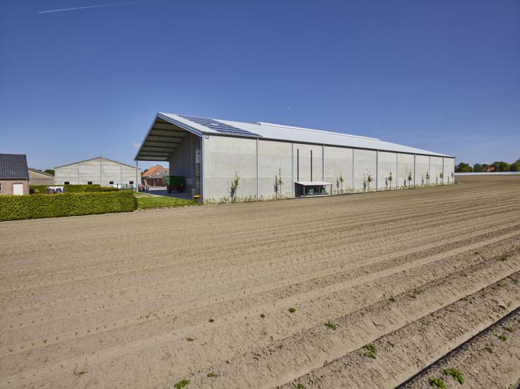 Obin, Handzame. Agrobouw. Agrarische gebouwen. opslagloodsen. Stockageloods