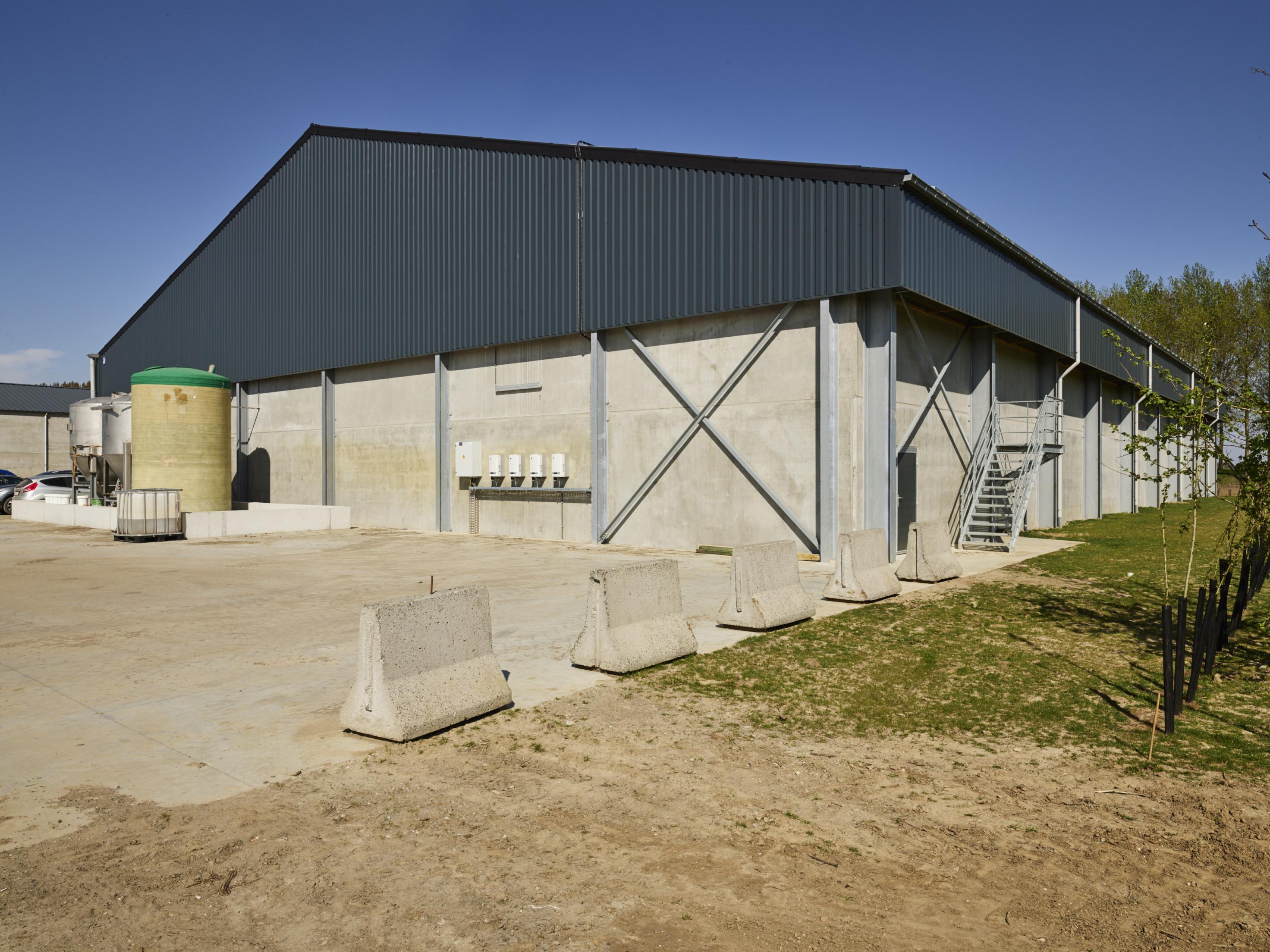 De Roeck. Beveren Waas. Agrobouw. Agrarische gebouwen. Aardappelloodsen. Stockageloods