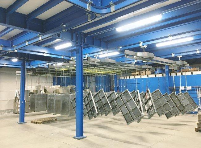 Manueel hangbaansysteem voor ophangen van meerdere zwaardere stukken tot 1.000 kg