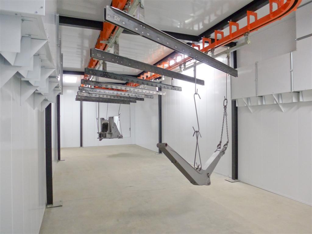 Chambre de séchage pour construction métallique