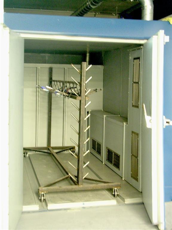 Industriële boxoven waarin karren naar binnen gerold worden