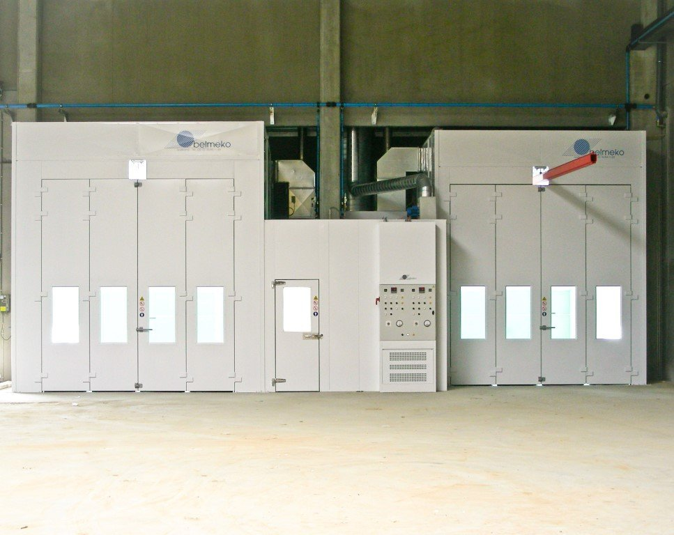 Two sprayrooms prepared for future conveyor
