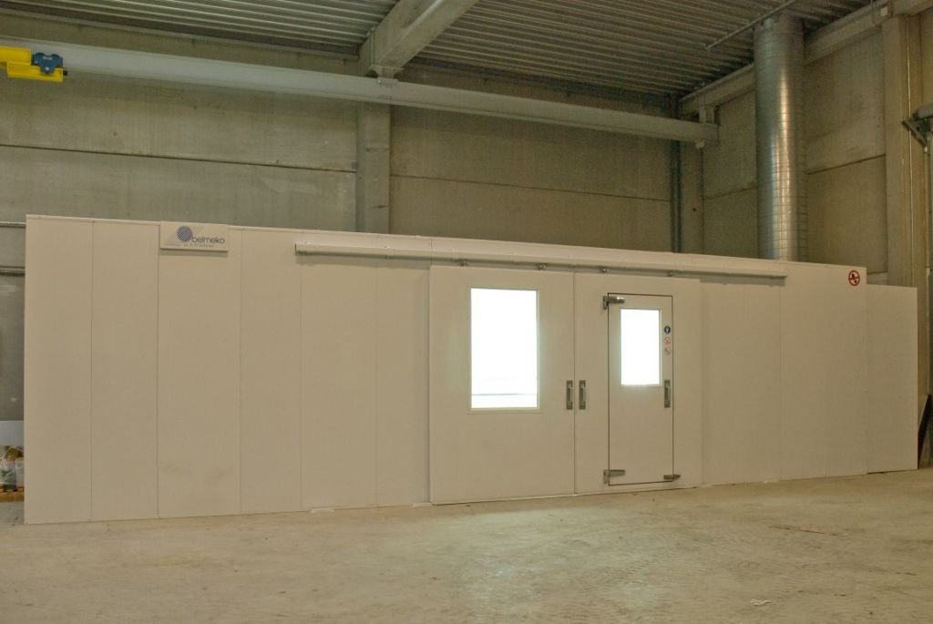 Spraybooth in underpression