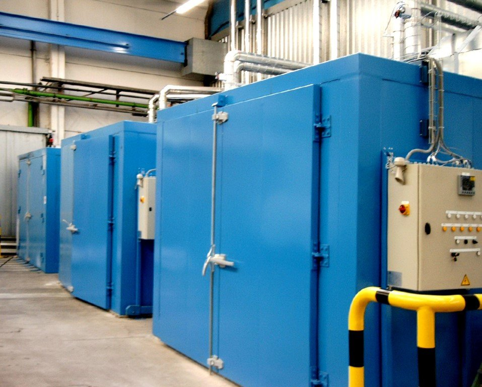 3 high-temperature industrial ovens