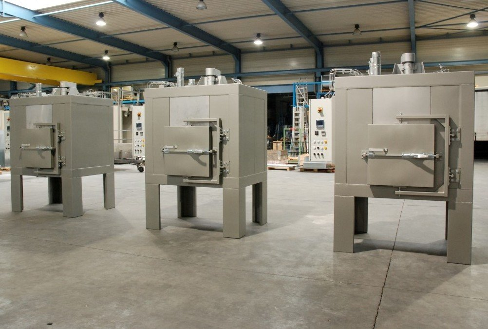 3 electric teflon coating ovens