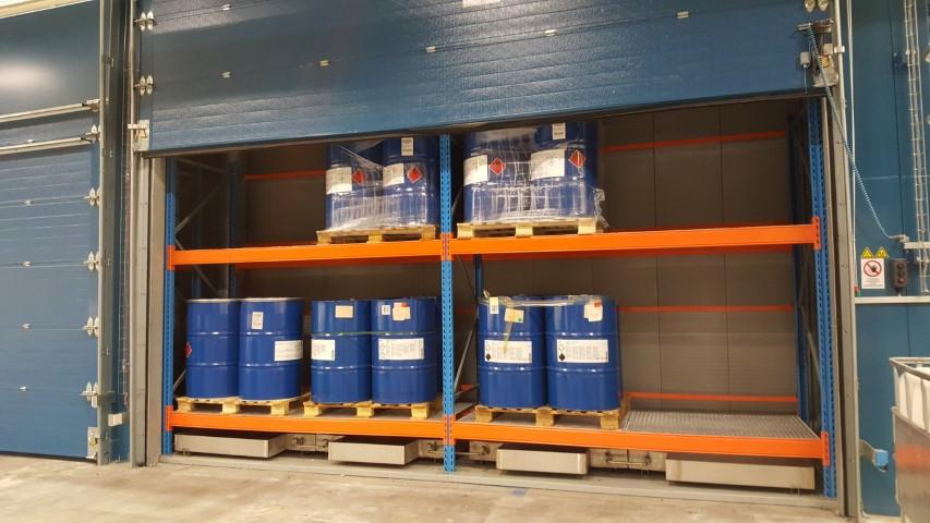 hotbox voor opwarmen drums tot 80 °C - capaciteit 32 vaten