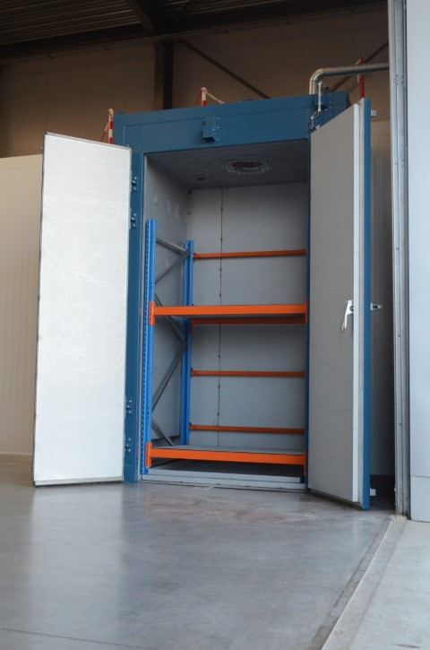 opwarmkamer IBC verticaal model - elektrische verwarming
