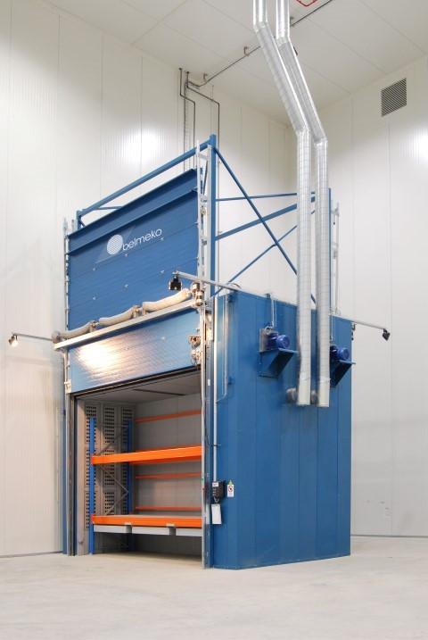 Dubbelzijdige verwarmingskamer voor op temperatuur houden van 12 IBC's