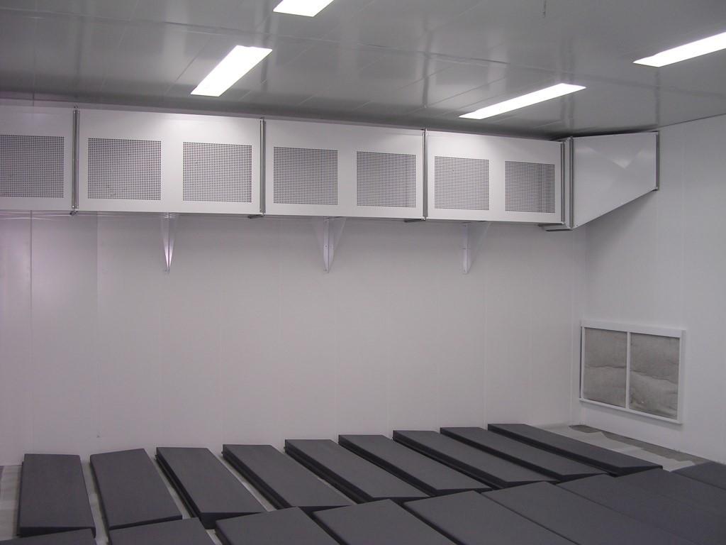 Droogkamer tot 60°C voor comfortschuimen of soepelschuimen