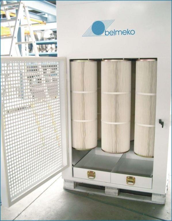 Powder coating equipment: powder spray wall