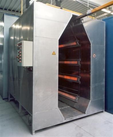 Infra-red powder oven
