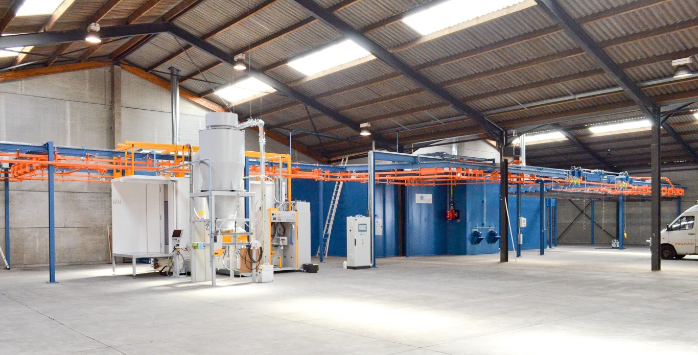 Automatic powder coating system