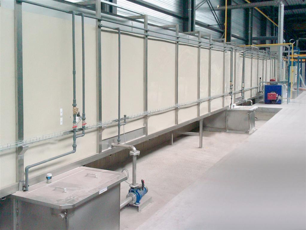 Tunnel de traitement de surfaces (TTS) en polypropylène
