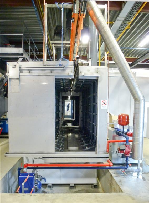 Chambre de lavage multiphase