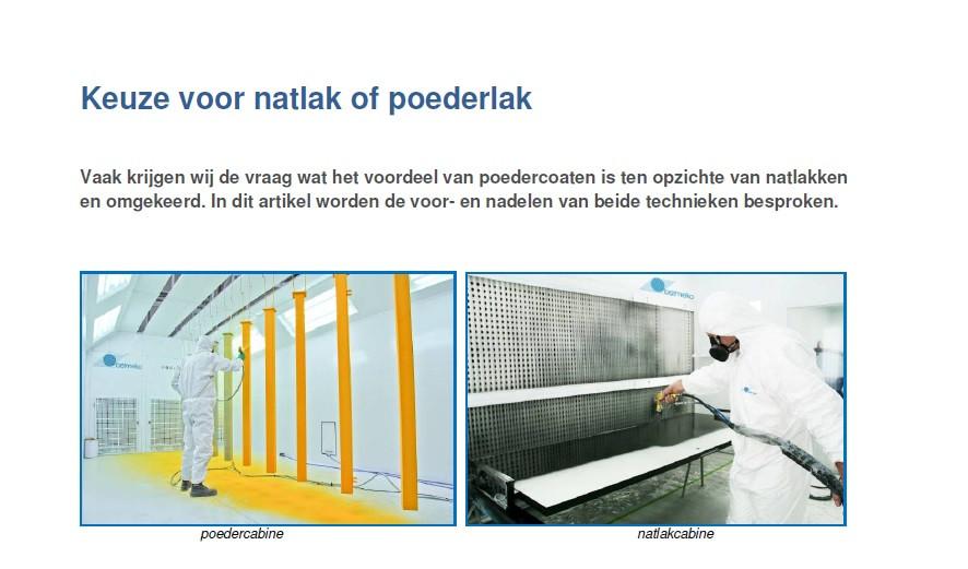 photo guide d'achat, natlak versus poederlak