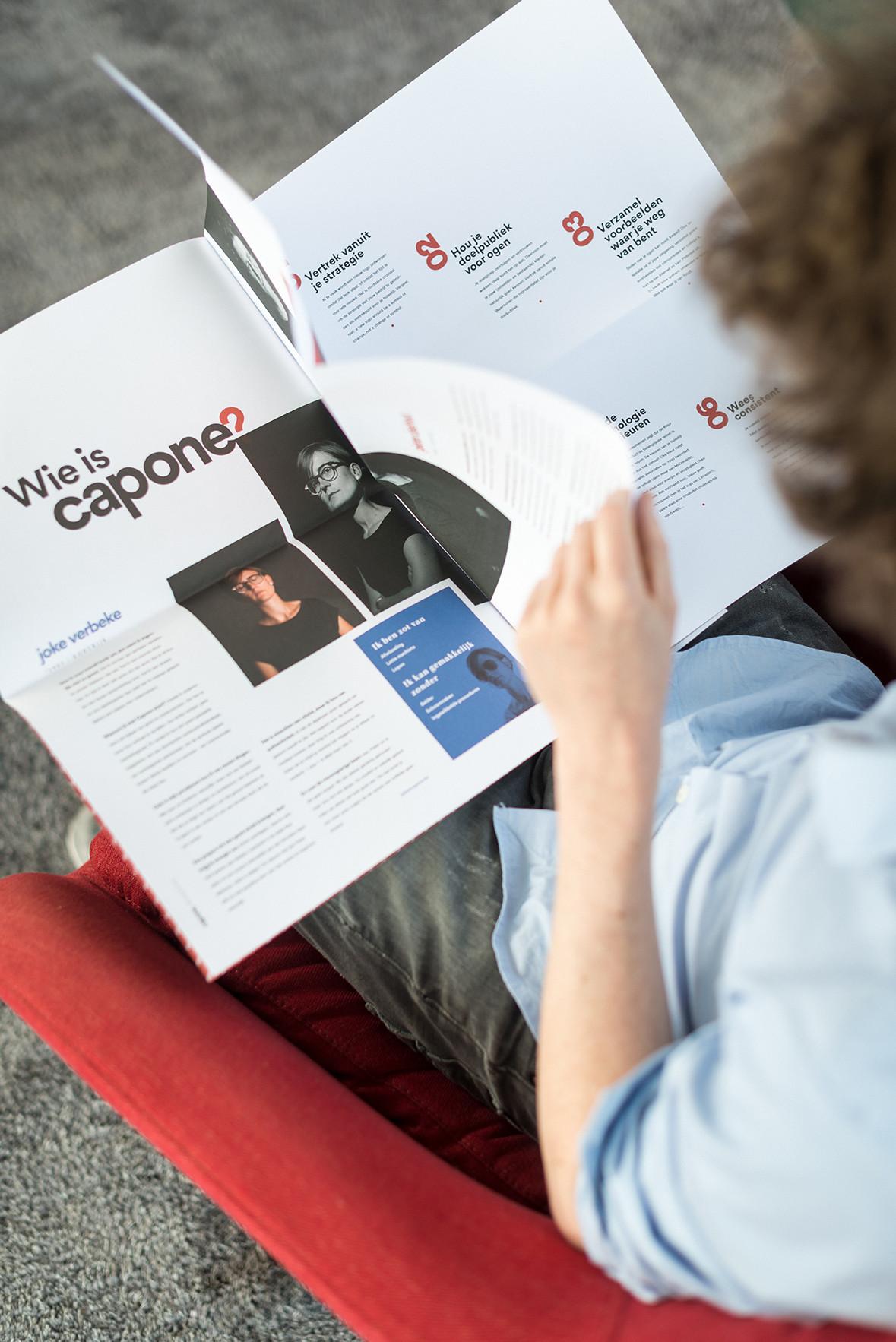 Detail van het magazine van communicatiebureau Capone