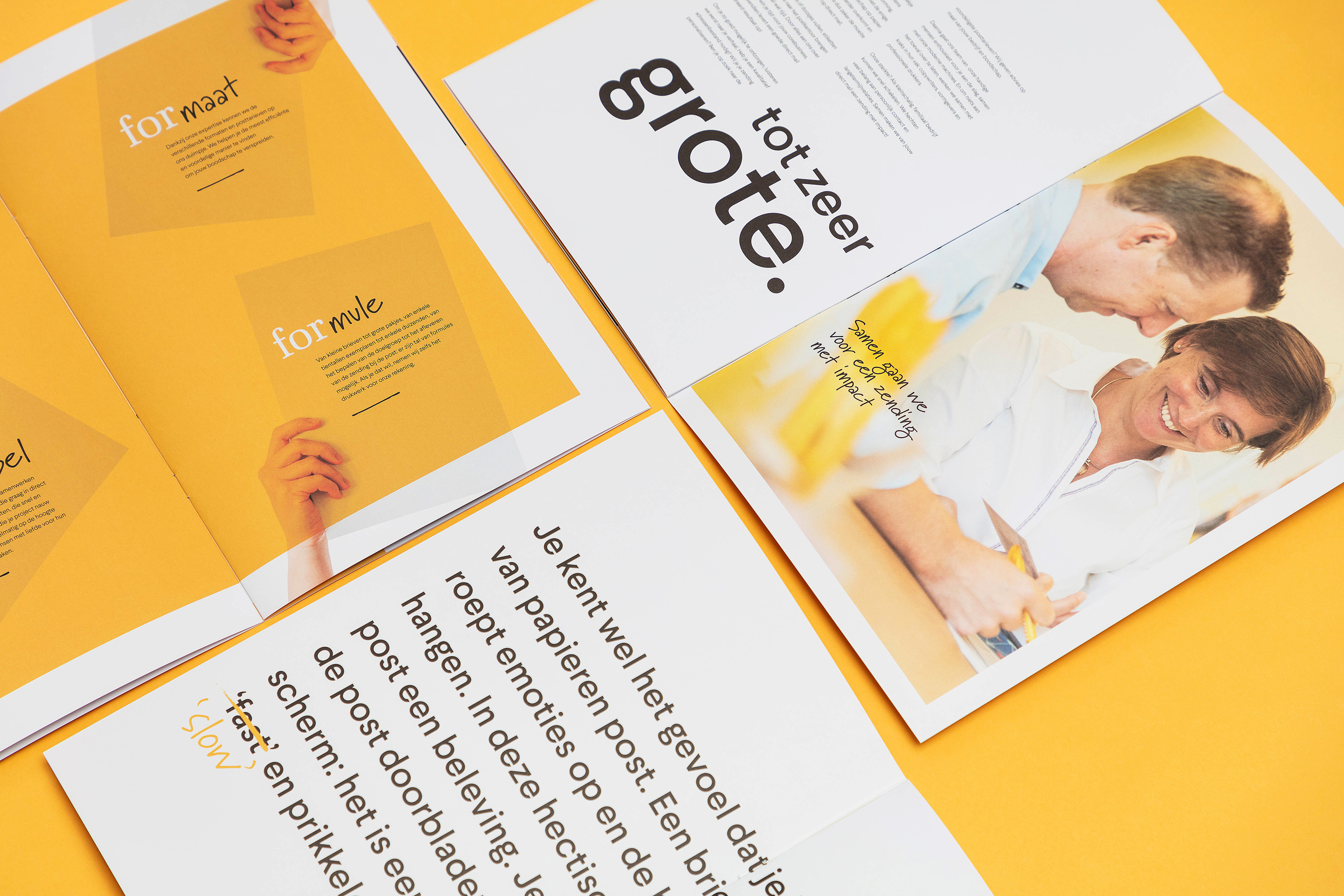 Voor Formail maakten we deze voorstellingsbrochure. Het bedrijf wordt erin voorgesteld én we overtuigen de lezer van het effect van een papieren mailing.