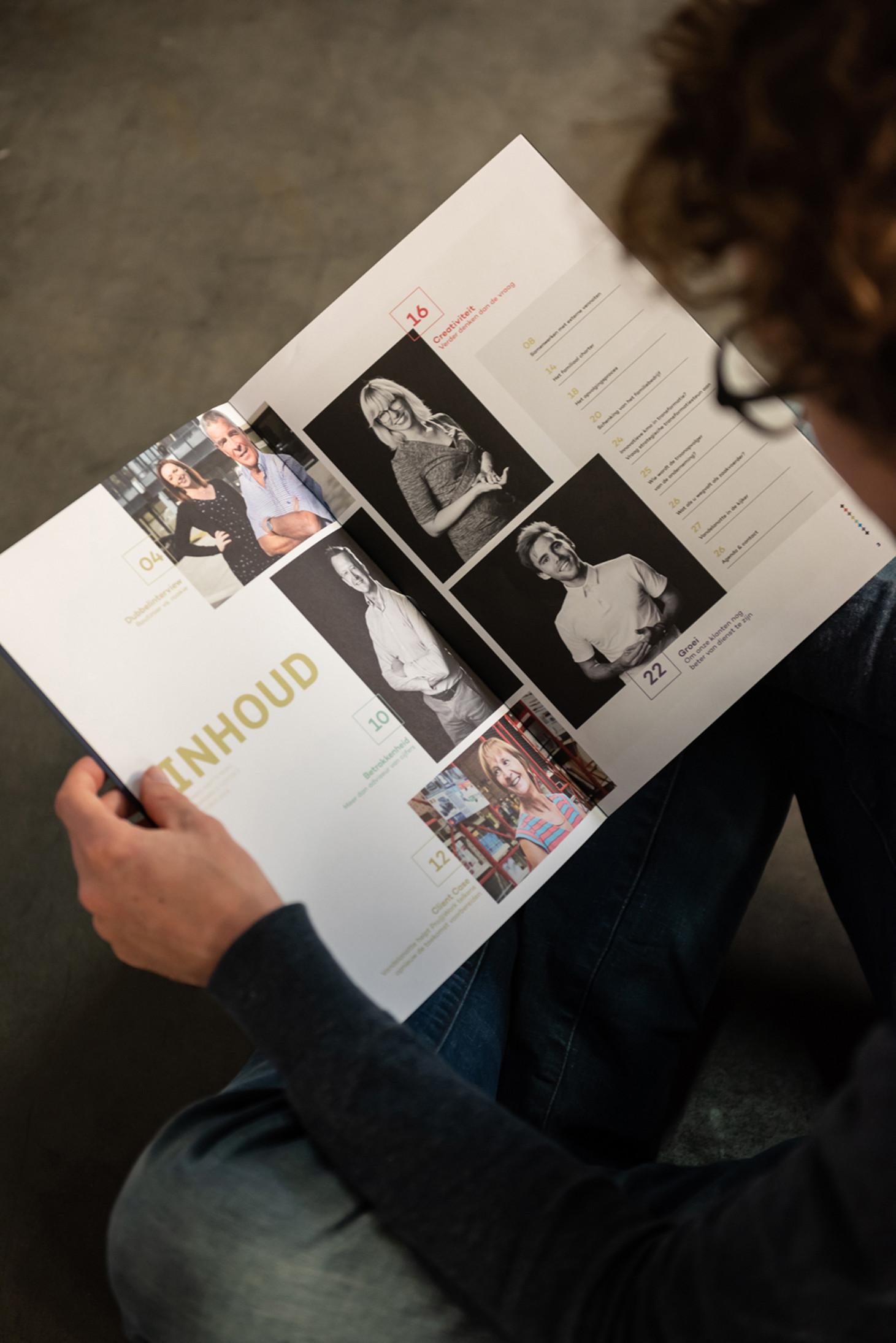 In een blad is het belangrijk om verschillende rubrieken te combineren
