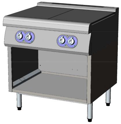 Algemeen Roestvrijstalen bovenkant van 2mm dik, lasergelast.Start & Cook:...