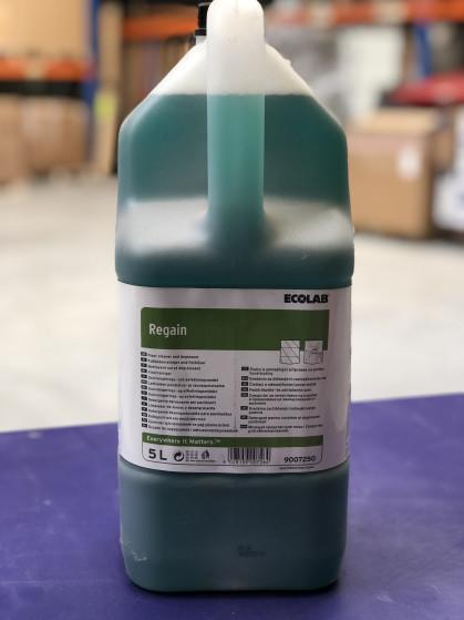Regain is keuken vloerreiniger en ontvetter, gebaseerd op een laag schuimende mix van alkali,...