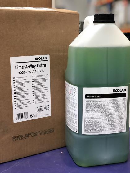 Sterk zuurhoudend ontkalkingsproduct voor industriële vaatwasmachines en bain-maries.