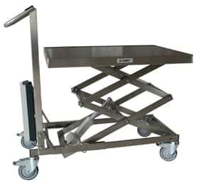 De Xcart schaarwagen is in hoogte verstelbaar met vergrendelbare wielen . Het is door een...