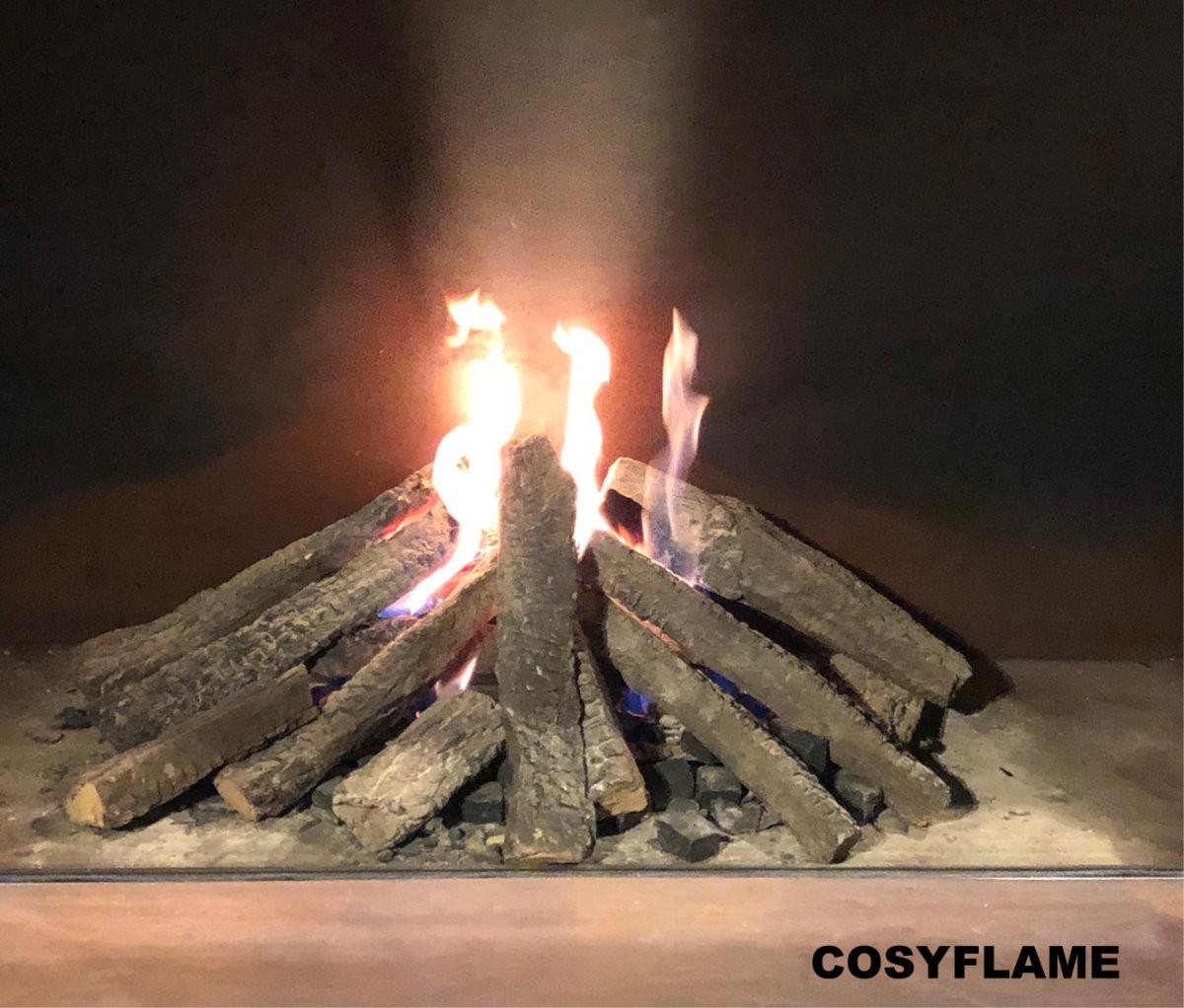 Cosyflame gashaard met binnenwand van geroest veredeld staal dtaal
