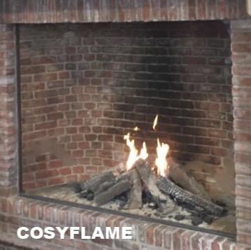 Cosyflame gashaard met binnenwand van rode oude stenen