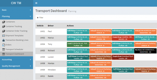 Via the C&W TMS Portal (cloud platform)Planning and following up of transport ordersTool for both transport operators as for plannersOrders can be easily created on the basis of...