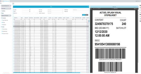Delivery (ASN) towards your warehouse/ WMS systemAre created online for non IT-supported suppliers/vendorsIncluding the printing of EAN128/SSCC pallet labels for identification of the...