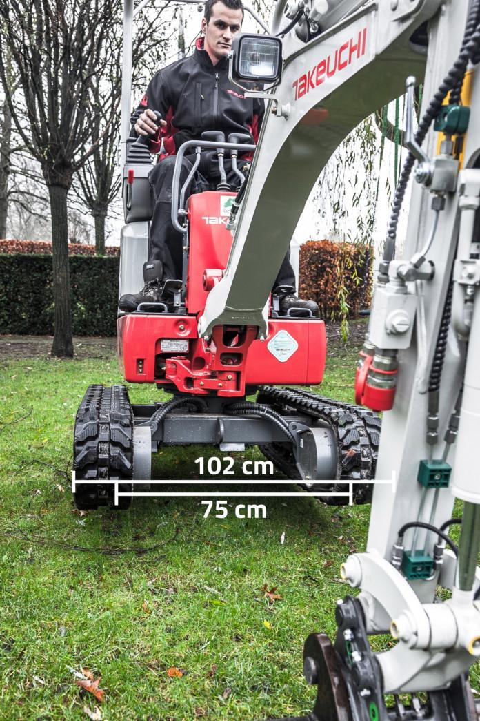1002 Minigraver 1 ton Takeuchi TB210R 6
