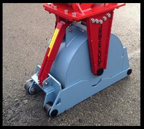 1471 Roadrunner frees voor asfalt en beton kraan 5-8 ton CW10 Rockwheel RR300 1